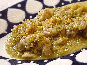 鶏肉の地中海風オリーブ煮 Pllo cocido en oliva