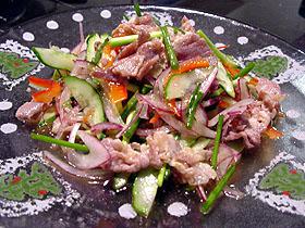 豚肉のアジア風サラダ