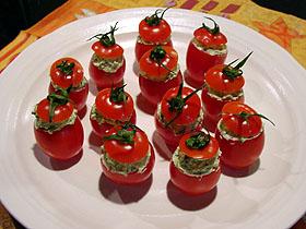 プチトマトのバジルチーズ