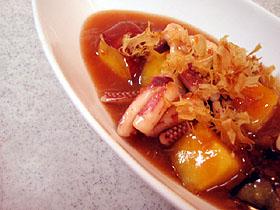 イカとサツマイモの梅煮