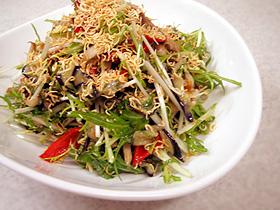 シソジャコと水菜の8品目サラダ