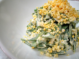 緑のタルタルサラダ