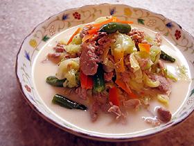 春野菜と豚肉のミルク煮