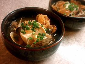 アサリとキムチの辛うまスープ