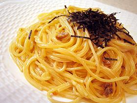 粒ウニのクリームスパゲティー