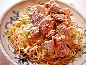 ピリ辛冷しゃぶ中華麺