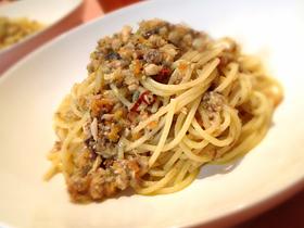 サバと香味野菜のスパゲティー