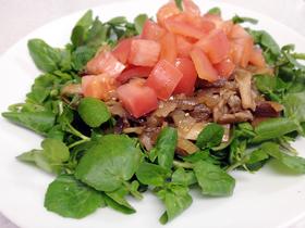 豚肉とキノコの焼肉サラダ