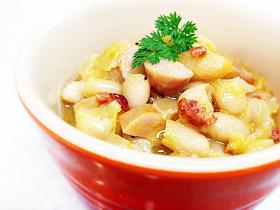 白いんげん豆のうま塩煮込み