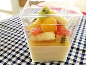 豆乳プリン&ジンジャーフルーツ