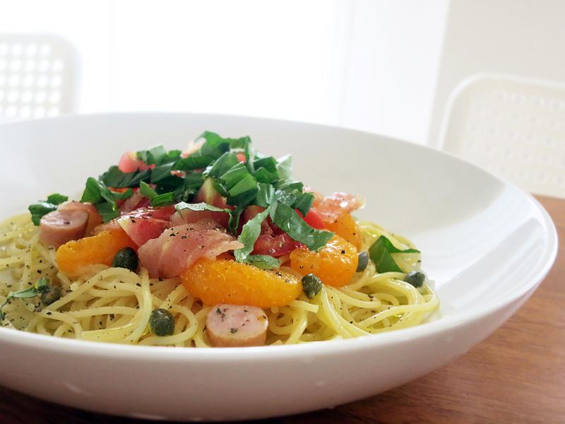 みかん&トマトの冷製スパゲティー