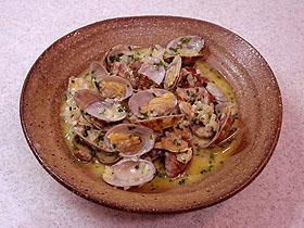 アサリの蒸し煮サフラン風味 Almejas al azafran