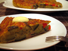 ナスのスペイン風オムレツ Tortilla de berenjenas